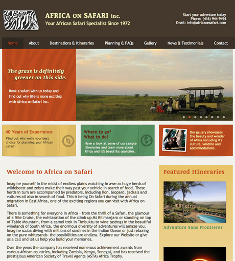 Africa on Safari Homepage